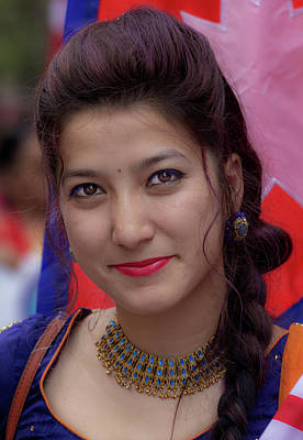 Photograph - Nepalese Day Nyc 2018 Woman In Traditional Dress by Robert Ullmann