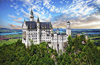 Photograph - Neuschwanstein Castle by Anthony Dezenzio
