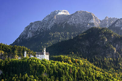 Photograph - Neuschwanstein Castle With Scenic Mountain Landscape Near Fussen, Bavaria, Germany by Marek Kijevsky