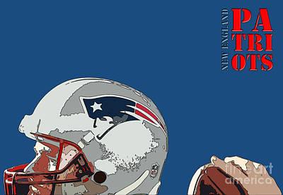 Brady Painting - New England Patriots Original Typography Football Team by Pablo Franchi