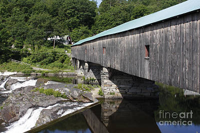 Photograph - New Hampshire Covered Bridge by Stan and Anne Foster
