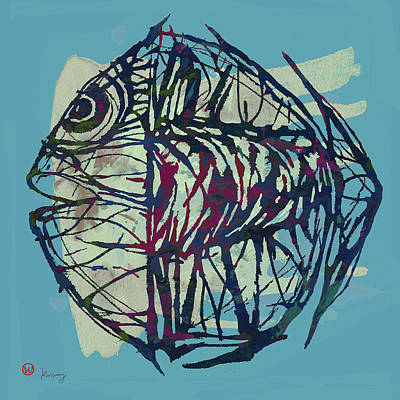 Neon Mixed Media - New Pop Art Tropical - Fish Poster by Kim Wang