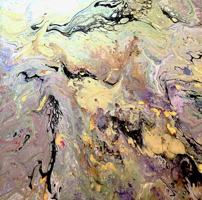 Acrylic Pour Painting -  Marble Instincts by Kathy Othon