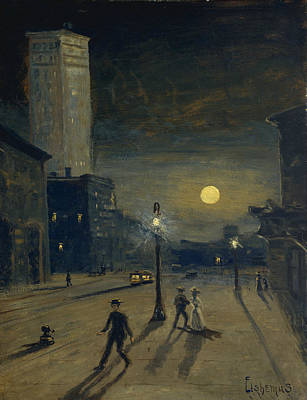Painting - New York At Night by Louis Michel Eilshemius