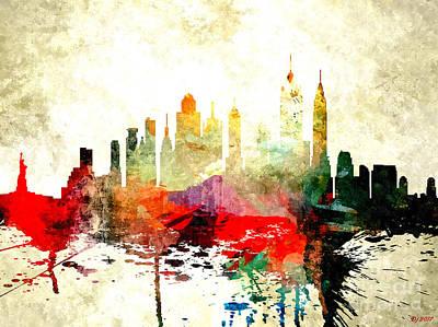 New York City Skyline Mixed Media - New York City by Daniel Janda
