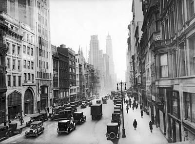 Photograph - New York City Street Scene by Underwood Archives