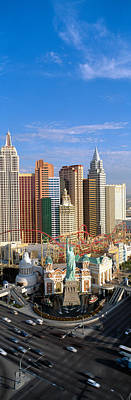 Statue Of Liberty Replica Photograph - New York, New York Casino, Las Vegas by Panoramic Images