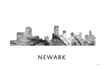 Nj Digital Art - Newark  New Jersey Skyline by Marlene Watson