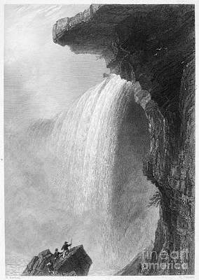 Photograph - Niagara Falls, 1837. For Licensing Requests Visit Granger.com by Granger