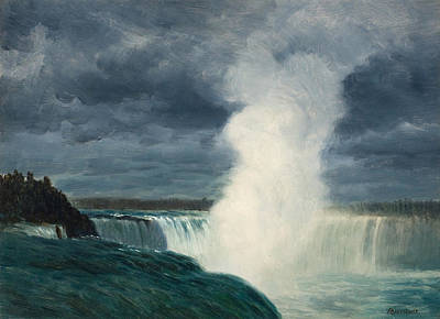 Traditional Culture Painting - Niagara Falls by Celestial Images