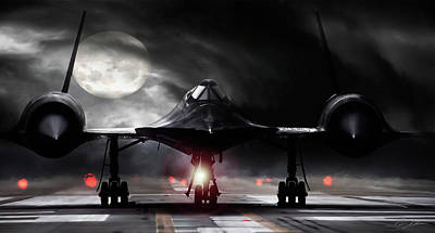 Blackbird Wall Art - Digital Art - Night Moves by Peter Chilelli