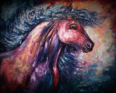 Western Pleasure Horse Painting - Night Storm by Lena  Owens OLena Art