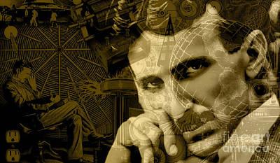 Nikola Tesla Collection Print by Marvin Blaine