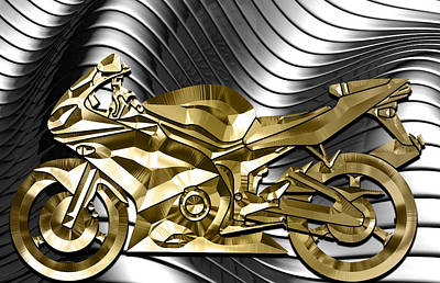 Ninja Motorcycle Collection Art Print by Marvin Blaine