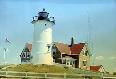 Historic Lighthouse Images Painting - Nobska Point Lighthouse by Frederic Kohli