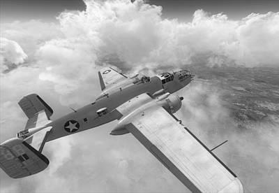 North American B-25j Usa Africa Art Print