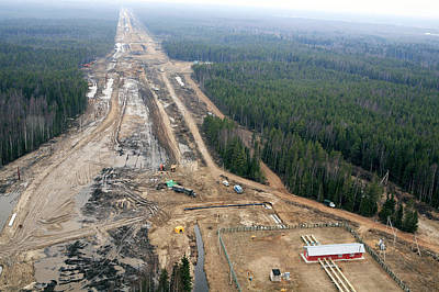 North European Gas Pipeline Construction Art Print by Ria Novosti