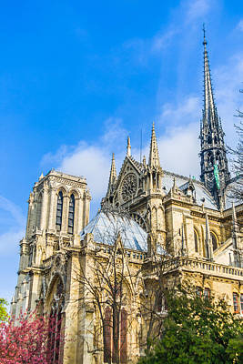 Photograph - Notre Dame Cathedral - Paris Gothic Cathedral by Nila Newsom