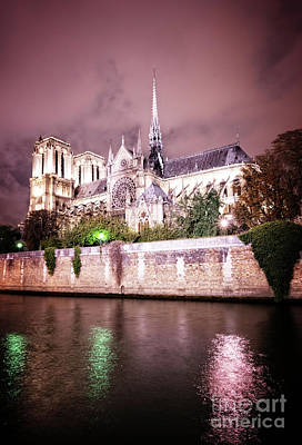 Photograph - Notre Dame Cathedral, Paris France by Anastasy Yarmolovich