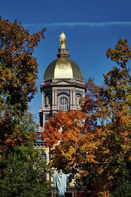 Notre Dame's Golden Dome Art Print by Mountain Dreams