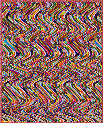 Painting - Novino Signature Art Colorful Energy Wave Pattern By Navinjoshi At Fineartamerica.com by Navin Joshi