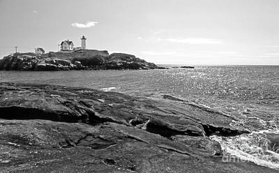 Nubble Lighthouse Art Print by Skip Willits