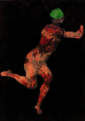 Mixed Media - Nude Man by Svelby Art