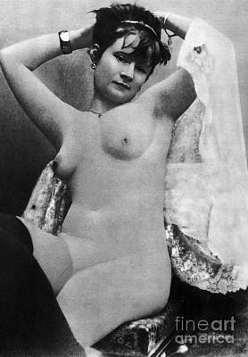 Photograph - Nude Posing, C1888 by Granger