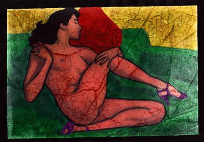 Nude Woman Art Print by Miley Art