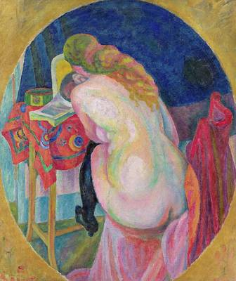 Exposed Painting - Nude Woman Reading by Robert Delaunay