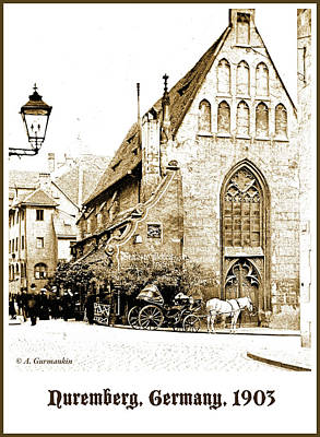Photograph - Nuremberg Church, 1903 by A Gurmankin