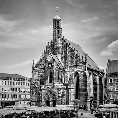 Nuremberg Church Of Our Lady And Main Market Art Print by Melanie Viola