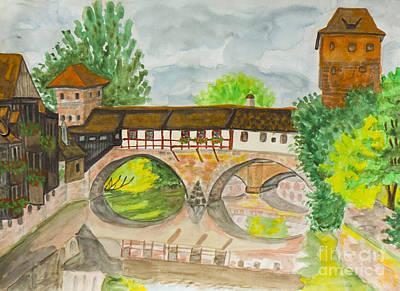 Painting - Nuremberg, Painting by Irina Afonskaya