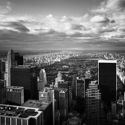 Empire State Photograph - Nyc Central Park by Nina Papiorek
