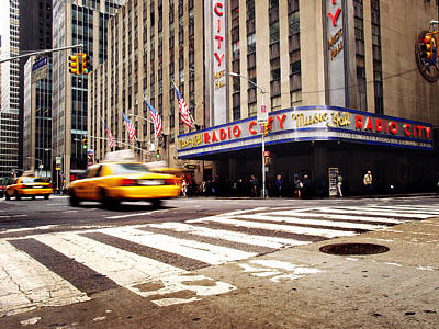 Times Square Photograph - Nyc Radio City Music Hall by Nina Papiorek