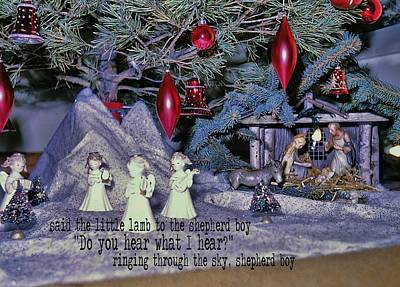 O Holy Night Quote Art Print by JAMART Photography