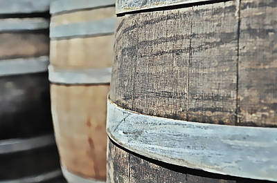 Photograph - Oak Wine Barrel by Brandon Bourdages