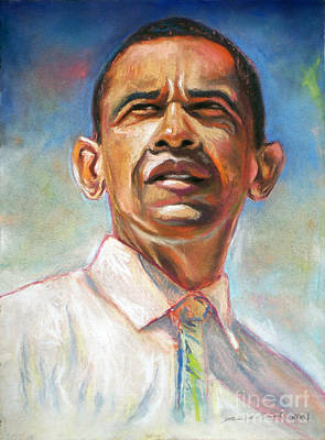 Barack Drawing - Obama 08 by Dennis Rennock
