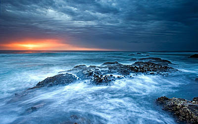 Landscape Digital Art - Ocean by Maye Loeser
