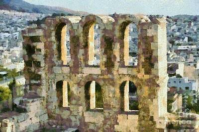 Painting - Odeon Of Herodes Atticus by George Atsametakis