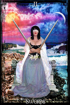 Digital Art - 2 Of Swords by Tammy Wetzel