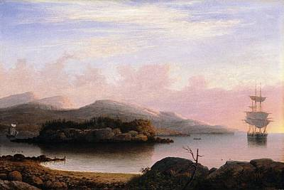 Fitz Painting - Off Mount Desert Island by Fitz Henry