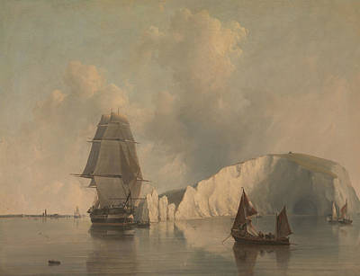 Painting - Off The Needles, Isle Of Wight by Edward William Cooke