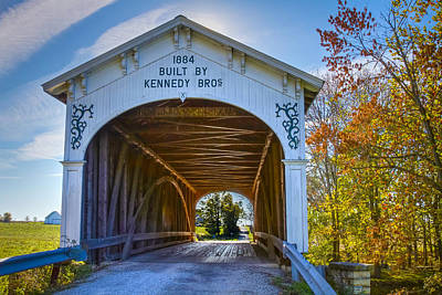 Music Royalty-Free and Rights-Managed Images - Offutts Ford covered bridge by Jack R Perry