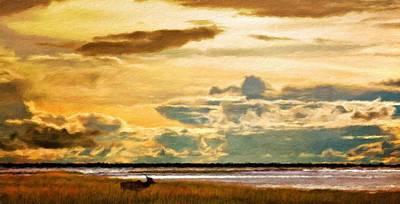 Ocean Painting - Oil Paintings Art Landscape Nature by Margaret J Rocha
