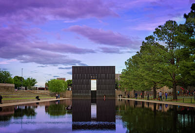 Okc Memorial Print by Ricky Barnard