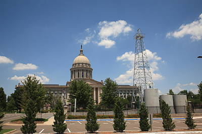 Photograph - Oklahoma State Capitol Building by Frank Romeo
