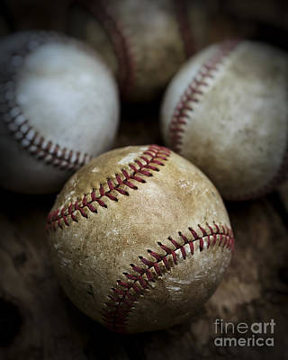 Blue Jay Photograph - Old Baseball by Edward Fielding