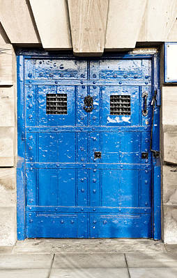 Old Blue Door Art Print by Tom Gowanlock