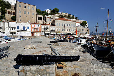 Photograph - Old Cannons In Hydra Island by George Atsametakis